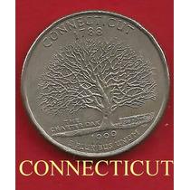 Moeda Quarter Dollar 1999, Conecticut, Estados Americanos