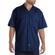 Dickies 1574 Camisa Trabajo Manga Corta Azul Marino Xxxl
