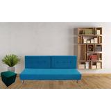 Combo Sofa Cama Picasso + Puff Mueble Hogar Sala