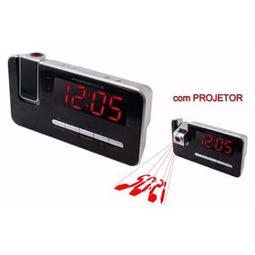 Rádio Relógio Com Alarme E Projetor Envio Imediato