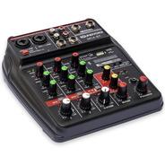 Mesa Som 4 Canais Compacta Usb Efeito Bluetooth Interface
