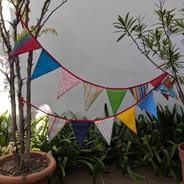 Banderin Guirnalda Tela Deco Casa Varios Modelos