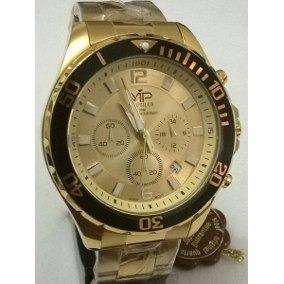 075d5ddbb21 Relogio Vip Dourado Pulso - Relógio Masculino no Mercado Livre Brasil