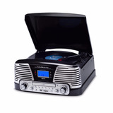 Toca Discos Ctx Raveo Harmony Preto Lp/cd/fm/usb/bluetooth