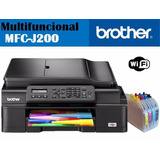 Brother Mfc J200 4en1 Wifi + Sistema De Tinta El Mas Barato