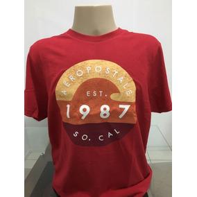 Camisa Aeropostale Vermelha Tamanho Xl/gg