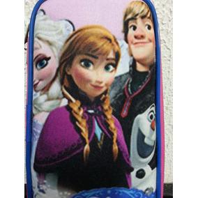 Estojo Escolar Aulas Meninas Frozen Porta Material Escolar