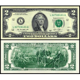 Billete 2 Dolares, Estadounidense 2013 Unc