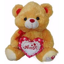 Super Urso De Pelúcia Coração Grande Amor Eu Te Amo + Cartão