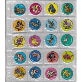 Coleção Completa 80 Tazos Ping Pong Zaps Animais Em Extinção