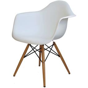 Cadeira Poltrona Mesa Sala Jantar Eames Wood Daw Com Braço