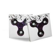 Fidget Hand Spinner Anti Ansiedade Rolamento Metalizado Roxo