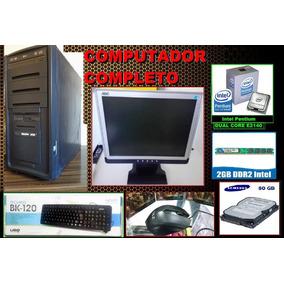Computador Completo Dual Core+monitor 15 Polegadas +frete