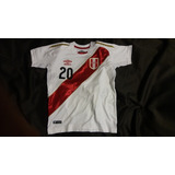 Camiseta Peru Oficial Seleccion Peruana Dorada Rusia