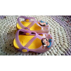 Cholas Chancletas Tipo Crocs Niña Talla 18 Princesas Disney