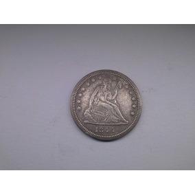 Moeda U.s.a Quarter Dollar 1844 Prata