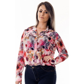 Camisa Feminina Chiffon Floral Fiorenza - Pimenta Rosada