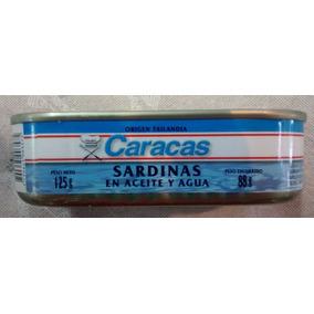 Sardinas En Aceite Y Agua Caracas X125 Gramos