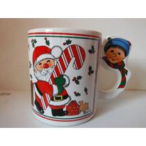 Taza Santa Claus Navidad Christmas Souvenir Cafeteria