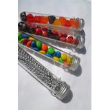 Tubos De Ensayo Plastico Con Tapa Metalica 10unidx$