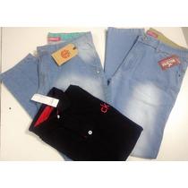 Kit Dia Dos Pais-calça Jeans Ou Sarja + Camisa Pólo = Brinde