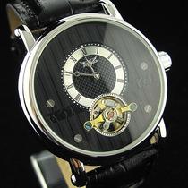 Relógio Masculino Automático Turbilhão Luxo Elegante Jaragar