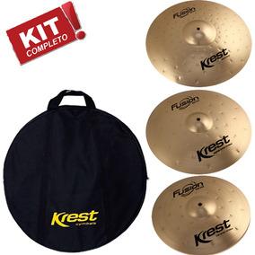 Kit Pratos Fusion Krest Set4 B8 Chimbal 13 Ataque 16 Ride 20