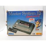 Master System 3 Compact + Controle Original + Caixa Original