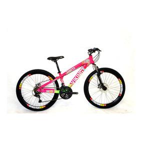 Bicicleta Aro 26 21v Tuff Freeride - Rosa/verde - Viking