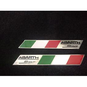Emblema Itália -par 2 Pçs Abarth Bravo Alta Qualidade
