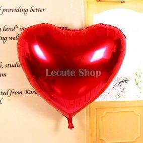 Globo Metálico Corazón Gigantes Rojo Amor San Valentin