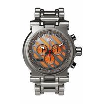 Relógio Laranja Oakley Hollow Point Titanium Bracelet