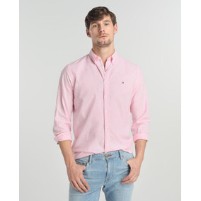 Camisa Tommy Hilfiger S Rayada Rosa/blanco Cleotildescloset