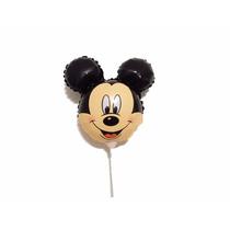 Balão Metalizado Mickey Mouse Kit Com 10 Balões E Varetas