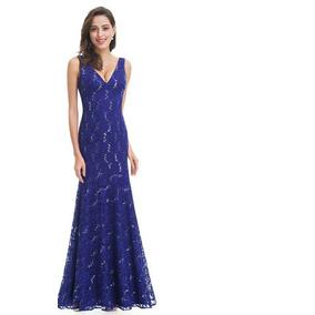 Vestidos Renda Azul Tamanho 42