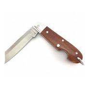 Canivete Zebu Barretos 604 Aço Carbono Cabo Madeira + Bainha