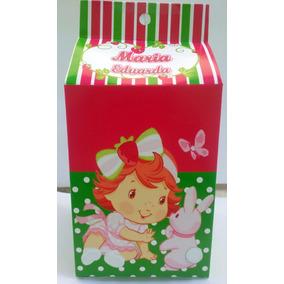 Caixa Milk Leite Personalizada Moranguinho