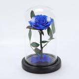 Blue - Rosa Eterna En Cúpula Conserva Flores En Caja Re-7214