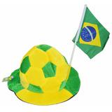 Chapéu Bola Com Bandeirinha Cartola Brasil
