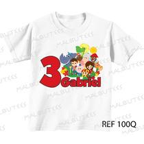 Camiseta Infantil Aniversário Sitio Do Pica Pau Amarelo