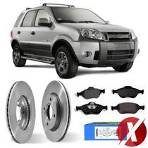 Kit Disco + Pastilha Freio Dianteiro Ford Ecosport 2009-2012