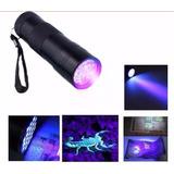 Lanterna Mini Ultravioleta Portátil Uv 9 Leds Anti Fraude