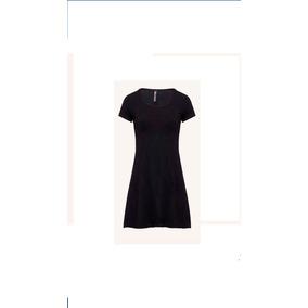Vestido Corto Básico Línea A Falda Circular En Algodón