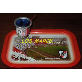 River Plate Bandeja + Mate + Bombilla 38 X 28 Cm