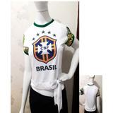 2 Baby Look Feminina Copa Do Mundo Seleção Brasileira
