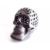 Barro Negro Oaxaqueño Fabuloso Cráneo Artesanal Hecho A Mano