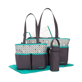 Bolsa Kit Maternidade Bebê 5 Peças - Carters - Cinza