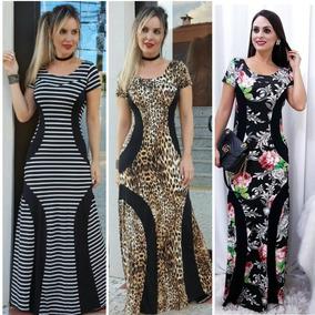 Kit Vestido Feminino Longo Tres Unidade Lindos Super Oferta