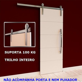 Kit Porta Correr Roldana Aparente Alum. Trilho De 2,00 Mts