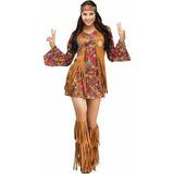Paz Y Adulto Halloween Traje Amor Hippie Mujer